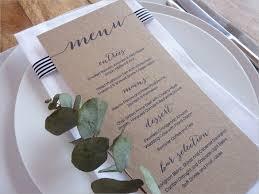 menu templates for weddings wedding menu
