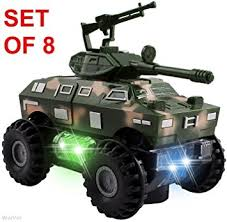 go lights for trucks amazon com wolvol set of 8 military car truck toys with lights and