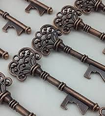 key bottle opener wedding favors wedding favor skeleton key bottle opener with
