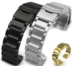 bracelet bands ebay images Stainless steel 23mm metal replacement watch band strap double jpg