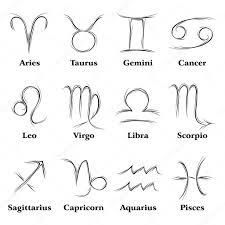 zodiac signs u2014 stock vector oxygen64 12016497