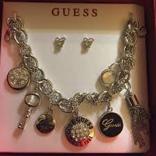 guess bracelet silver images Jewelry guess brand charm bracelet silver tone poshmark jpg