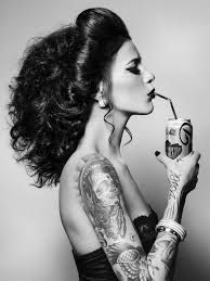 diet coke with tattooed model whitney from red models nyc jodi