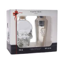 cocktail set crystal head skull vodka 70cl cocktail shaker set drinksupermarket