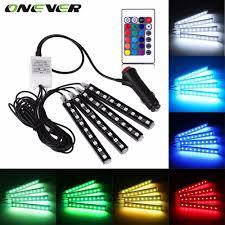 car led lights for sale 3000 orders price 8 61 4pcs car rgb led strip light led strip lights