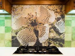 How To Install Glass Mosaic Tile Backsplash In Kitchen by Mosaic Tile Backsplash Hgtv