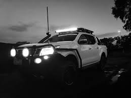 install of led driving spot lights nissan navara np300 d23 2016