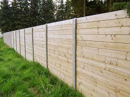 cloture jardin bois la clôture de jardin en bois et béton prix clôture de jardin