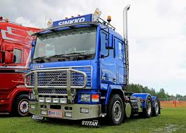 volvo truck tractor blue volvo truck tractor f16 at riverside truck meeting 2015