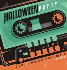 halloween party creative design concept with skull shape made