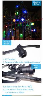 waterproof christmas light connections commercial outdoor ip65 waterproof rubber wire led christmas festoon