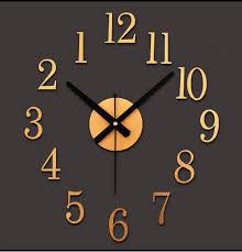 reversed motor diy digital wall clock decorative wall clock wall