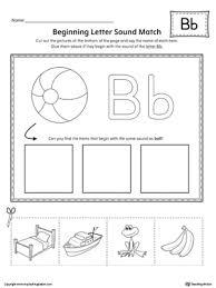 letter b beginning sound color pictures worksheet beginning