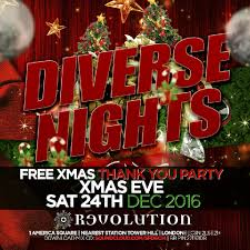 diverse nights xmas thank you party tickets revolution america