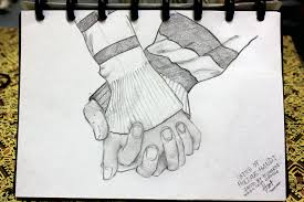 people holding hands sketch like success
