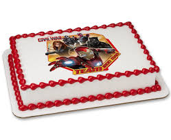 marvel u0027s captain america civil war team iron man photocake cake