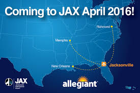 Jetstream Map Allegiant Expands At Jax With Nonstop Service To Three New Cities