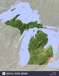 Upper Peninsula Michigan Map Michigan Map Stock Photos U0026 Michigan Map Stock Images Alamy