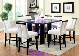 black finish u0026 led 7 pc counter height dining set caravana furniture