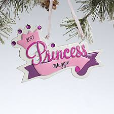 personalized ornaments for princess crown