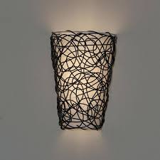 Exciting Lighting Battery Operated Sconce Lights Its Exciting Lighting Wicker Black