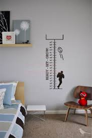set grow growth chart football kids wall decal vinyl quotes