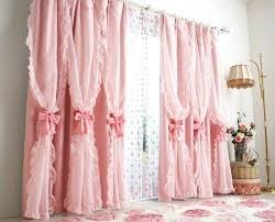 Ruffled Pink Curtains Girly Curtains Girly Curtains Marvelous Girly Window Curtains