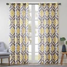Yellow And Grey Curtain Panels Yellow Curtains Drapes For Less Overstock