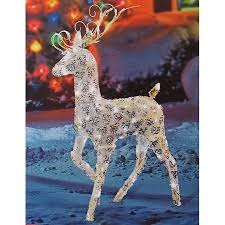 Lighted Santa And Reindeer Outdoor by Manificent Decoration Outdoor Reindeer Christmas Decorations Shop