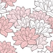 stylish lotus flowers seamless background stock vector image