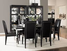 Black Dining Room Set With Trendy Black Dining Room Table Black - Black dining room sets
