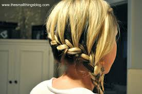 hair braid across back of head wrap around french braid the small things blog