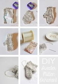 diy mitten ornament no knitting required 30 more