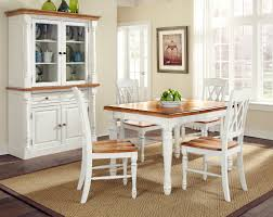 Distressed Dining Room Chairs Home Styles Monarch Rectangular Dining Table And Four Double X