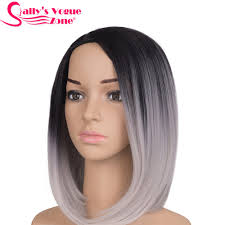 african american silver hair styles sallyhair high temperature synthetic straight short ombre black