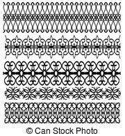stock illustration of black ornamental trim collection csp20244098