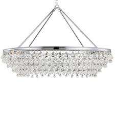 Crystal And Chrome Chandelier Crystorama Calypso 8 Light Crystal Teardrop Chrome Chandelier