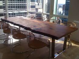 Dining Room Furniture St Louis by Custom Made Modern Slab Dining Table Scottdworkindesigns Com