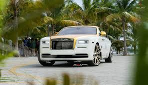 yellow rolls royce wraith vellano forged wheels