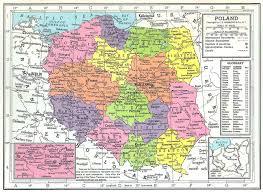 Map Poland Poland Map 1949 Philatelic Database