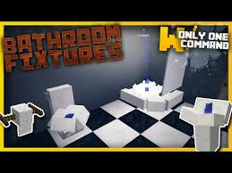 Minecraft Bathroom Accessories Bathroom Fixtures With Only One Command Block Minecraft Project