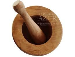 mortier de cuisine mortier et pilon bois d olivier idéal pour piler des épices des
