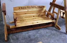 Porch Swing Gliders Cedar Creek Woodshop Porch Swing Patio Swing Picnic Table
