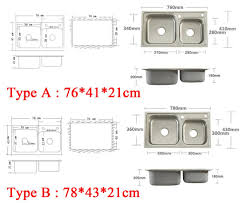 Kitchen Sink Width Aliexpress Com Buy 4 Sizes Double Bowl Kitchen Sinks Stainless