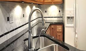 Kitchen Backsplash With Granite Countertops Granite Countertop Gray Kitchen Cabinet Range Hood Roof Vent Cap