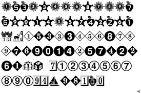 fontscape home symbols numbers numbers in circles