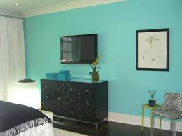 bedroom black closet design with shelves and hanging blue colour