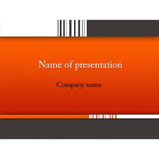powerpoint template for photo slideshow barcode powerpoint