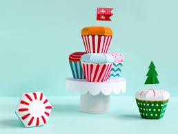 christmas cupcake candy box kit cupcake favor box holiday