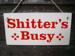 Funny Bathroom Gifts Shitter U0027s Busy Shitter U0027s Free Funny By Fairleyuniquedecals
